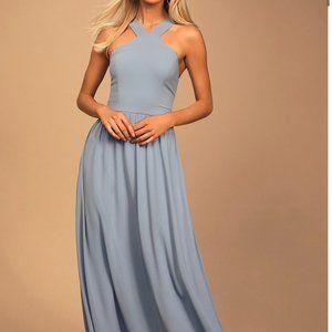 Lulu's Air of Romance Light Blue Maxi Dress